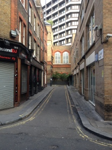 Hanway place, a narrow road that leads round in a circle. And Hakkasan.