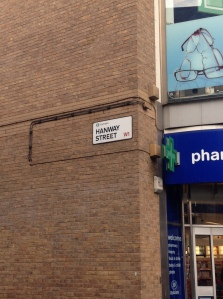 Hanway Street leads to Hanway Place