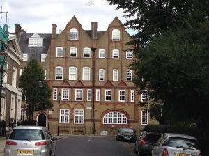 On Lloyd Square, the site of a school.