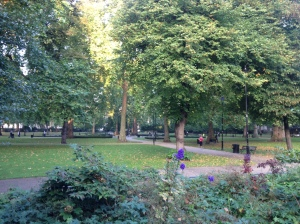 Russell Square: at 8am, it is a haven of tranquility