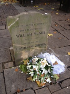 Not actually William Blake's tomb but, apparently, close enough