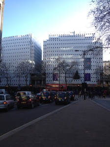 This is the elegant Bush House… with scaffolding.
