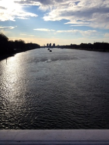 A glistening and rather full-looking Thames
